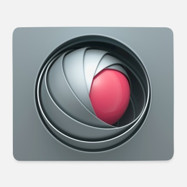 Iron Metal Ball bowls gray-pink - Mouse Pad