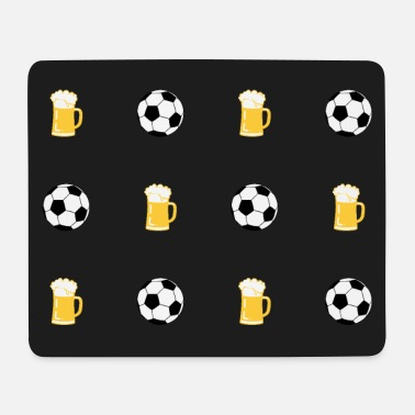 Soccer ball beer glass beer mug pattern - Mouse Pad