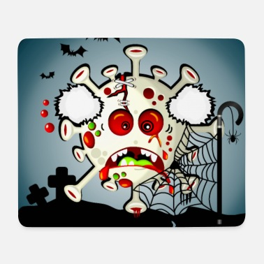 Halloween der Simonsitos Friedhof alter Mann Terror - Mousepad