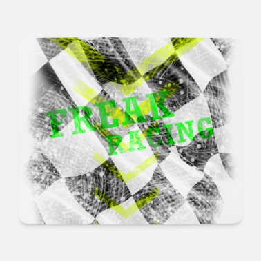 Rennflagge freak racing flag rennflagge checkered - Mousepad