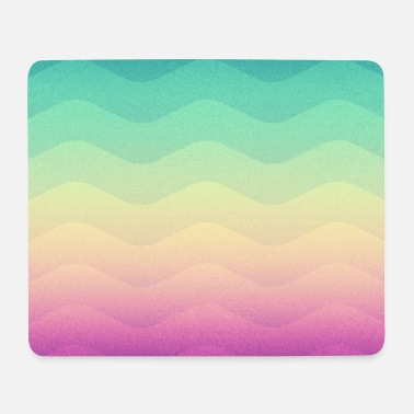 Homedecor Minimal Geometry Waves (Rainbow) - Phone Case - Mouse Pad