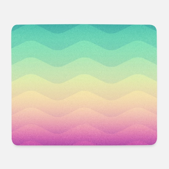Homedecor Mouse Pads - Minimal Geometry Waves (Rainbow) - Phone Case - Mouse Pad white