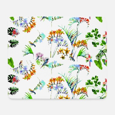 Botanical Botanical garden, plants, colored - Mouse Pad
