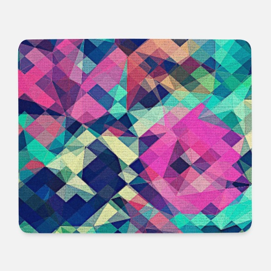 Birthday Mouse Pads - Abstract Rose (Colorful Pattern) Art - Phone Case - Mouse Pad white
