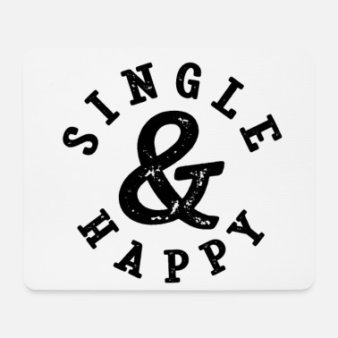 Single Single et Happy Funny single disant - Tapis de souris (format paysage)