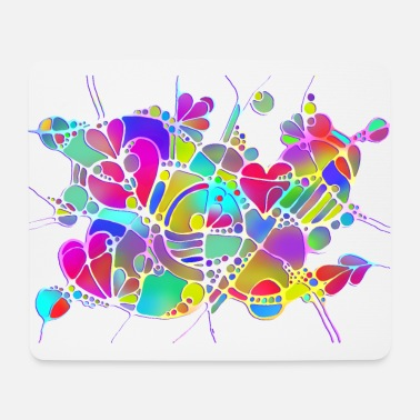 Bijoux Art abstrait Neuro Art LOVE IS CRAZY 6 - Tapis de souris