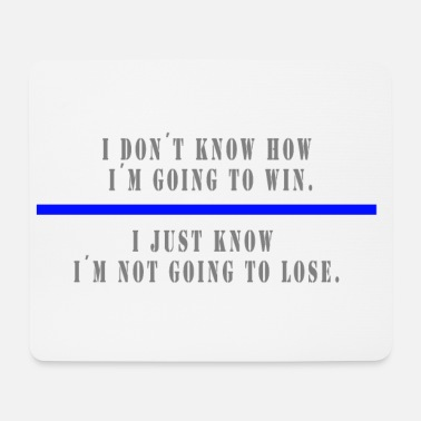 I DONT KNOW - Mousepad