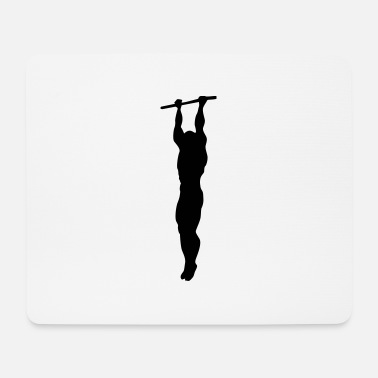 Lift klimzuege workout silhouette - Mousepad