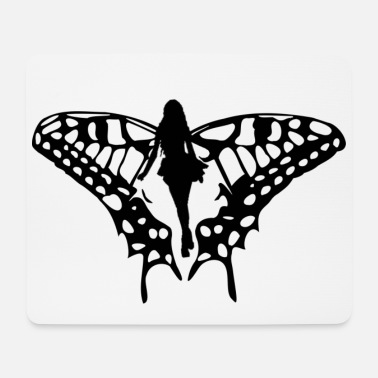 Black elf with big wings - Mouse Pad