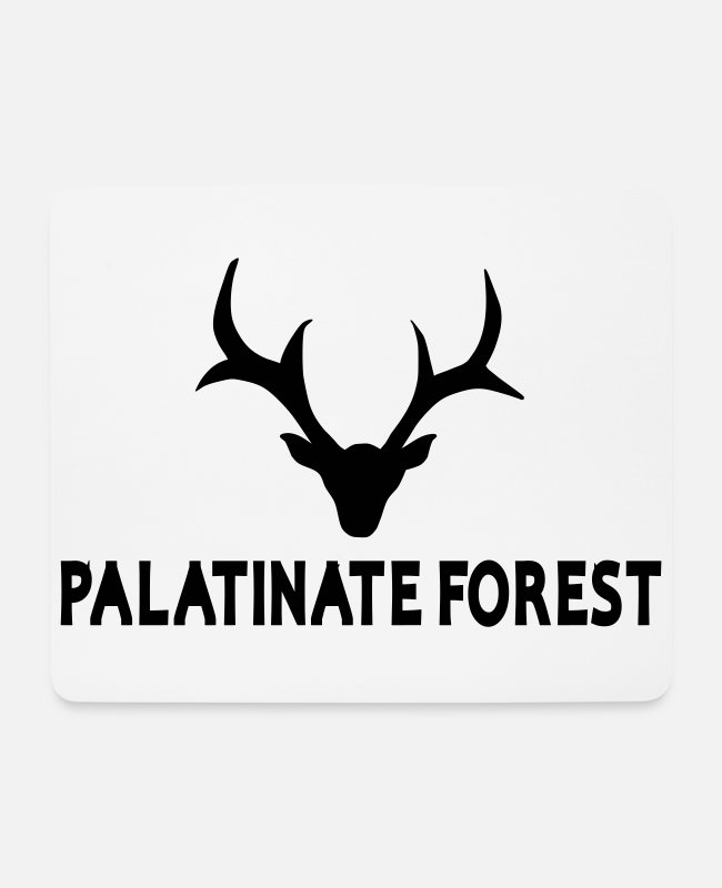 Palatinate Forest Mouse Pads - Wild Palatina deer - Mouse Pad white
