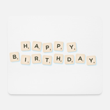Happy Birthday Happy Birthday Scrabble - Musmatta (liggande format)
