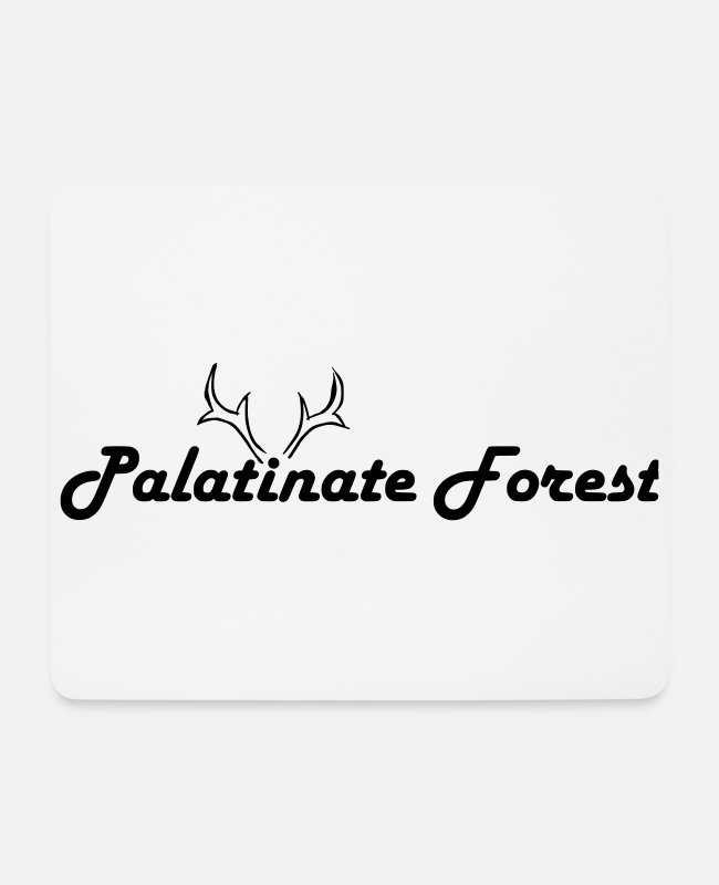 Red Deer Mouse Pads - Palatinate red deer - Mouse Pad white