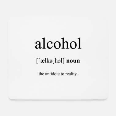 Partnershirt Alcohol (Alkohol) Definition Dictionary - Mousepad