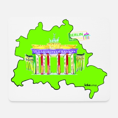 Berlinale Berlin is green and colorful / BerlinLightShow - Mouse Pad