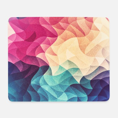 Bestseller Abstract low poly color pattern design (spectrum) - Mousepad