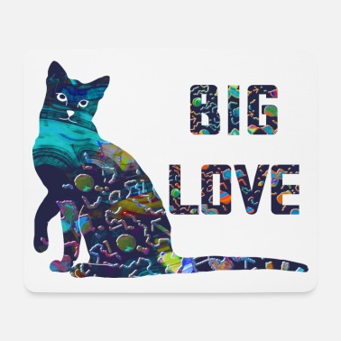 Big Love Big Love - cat - big love - colorato - Tappetino mouse