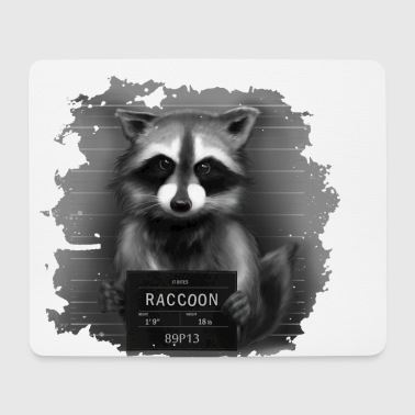 Raccoon Mugshot - Mouse Pad (horizontal)