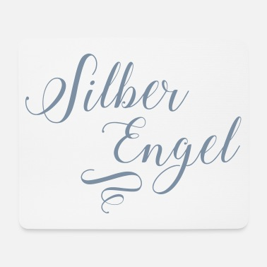 Silver Silver angel in silver metallic - Mouse Pad