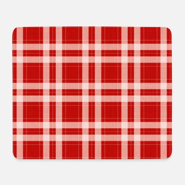 Tartan in red - Mousepad