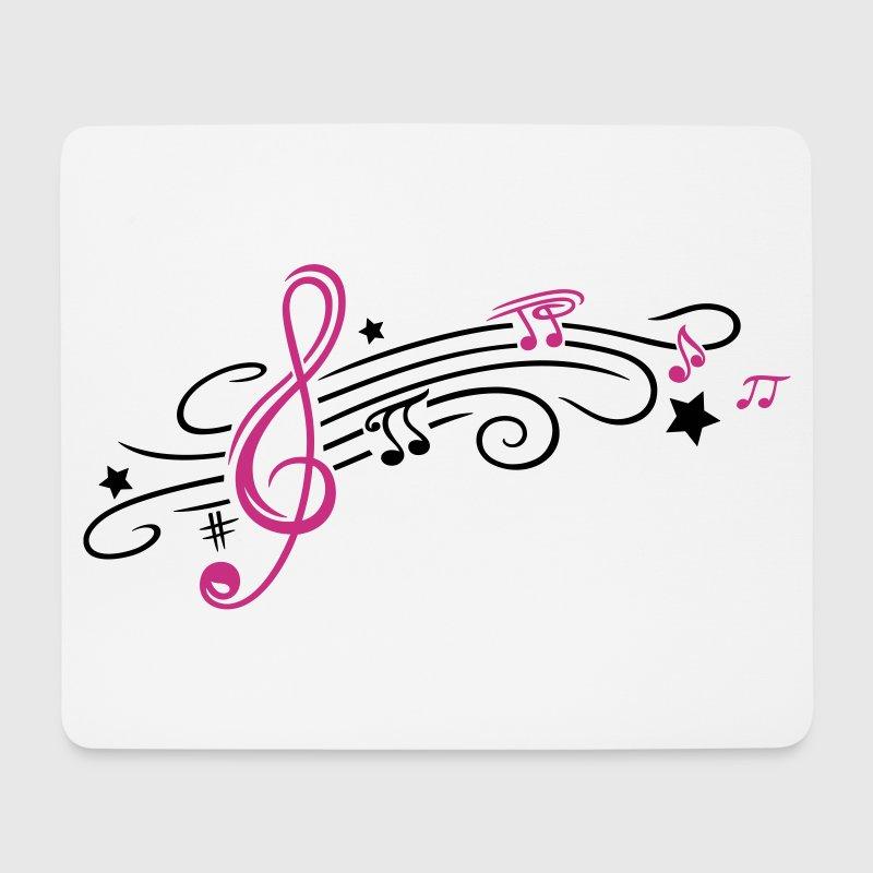 musik notenschlüssel mit notenblatt und noten von
