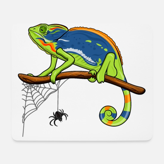 Animal Mouse Pads - chameleon - Mouse Pad white