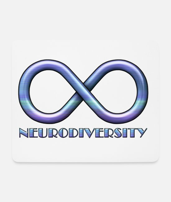 Adhd Mouse Pads - Infinity Sign for Neurodiversity - Mouse Pad white
