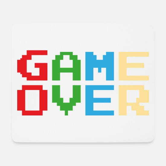 Kult Mousepads  - Game Over - Mousepad Weiß