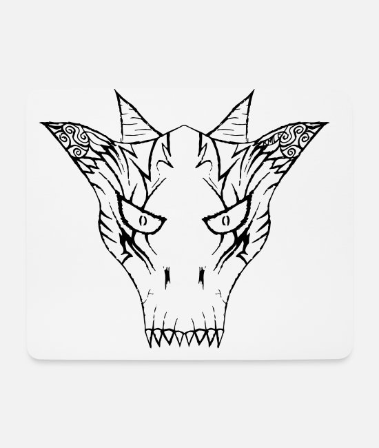 Bob Mouse Pads - Bob the Demon v2 - Mouse Pad white