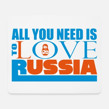 Reisebürokaufmann All you need love Russia - Mousepad
