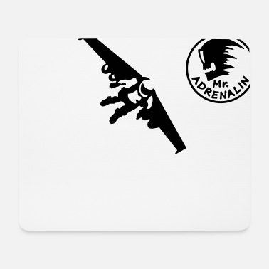 Plane Rocket man - Mouse Pad