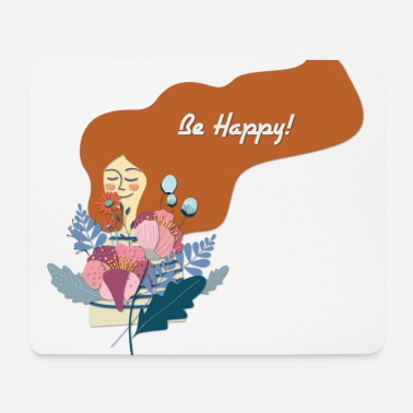 Happy Be Happy - Be Happy - Mouse Pad