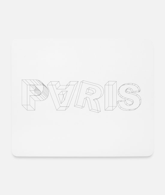 Europe Mouse Pads - Paris - Mouse Pad white