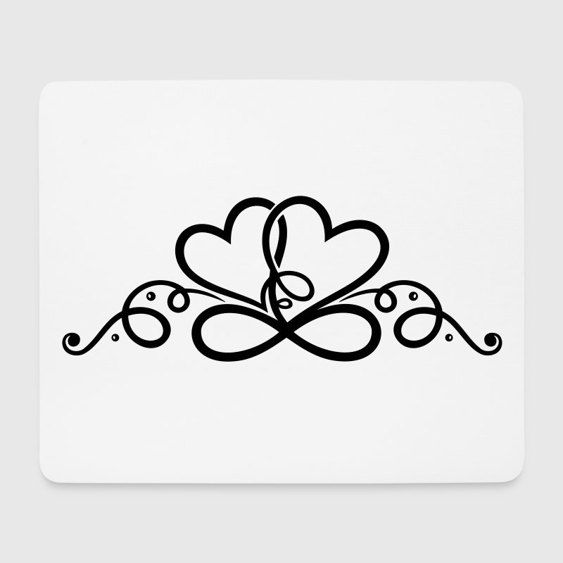 Two hearts in love with infinity symbol. - Mouse Pad (horizontal)