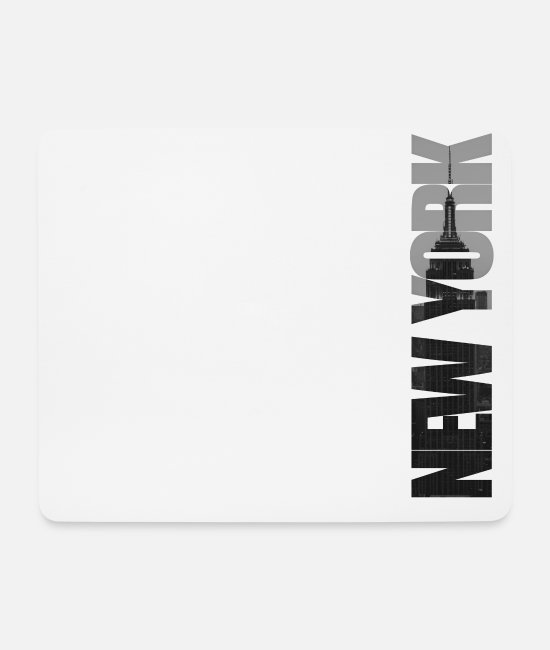 New York City Mouse Pads - New York City Mercury Gift - Mouse Pad white