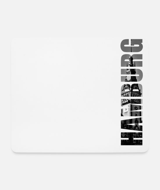 Hamburger Mouse Pads - Hamburg town hall - Mouse Pad white