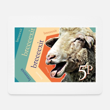 Brexit goat stamp - Mouse Pad