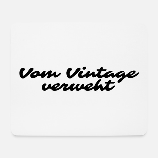Witzig Mousepads  - Vintage - Mousepad Weiß
