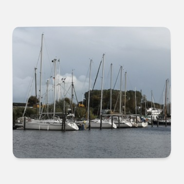 North Sea Cottage North Sea - photo opportunity Sailboats in the marina blue - Mouse Pad