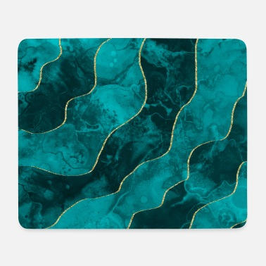 Stoner Green blue gold lines - Mousepad