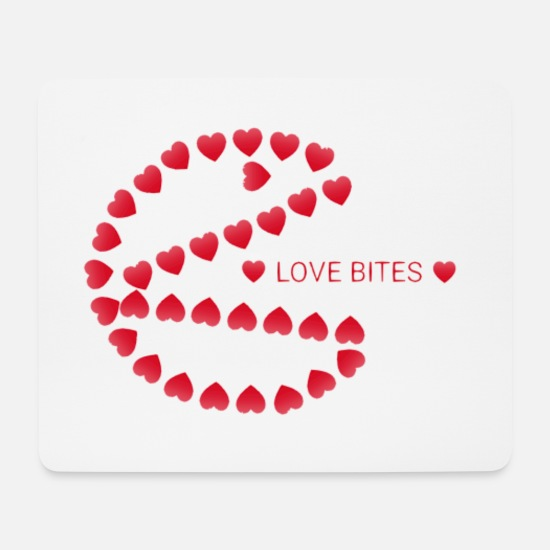 Love Mouse Pads - Love Bites - Mouse Pad white
