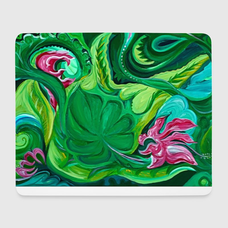 Wanderlust 3 Forest Flowers Summer Nature Plants Green - Mouse Pad (horizontal)