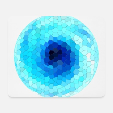 Rotation Ice hexagon rotation, Eis Sechseck Rotation. - Mousepad
