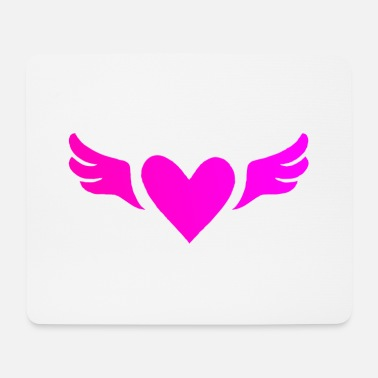 heart with wings - Mouse Pad