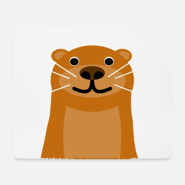 Otter trend animal sweet otter head - Mouse Pad