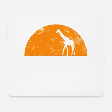 Giraffe in the crescent trend animal - Mouse Pad