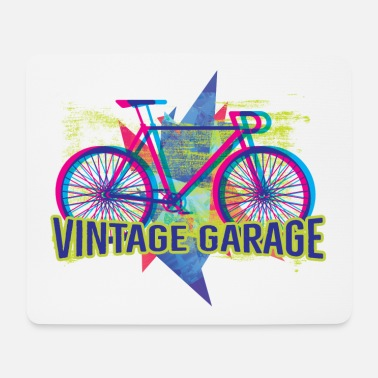 Homedecor BIKE - Vintage Garage - Streetstyle Neon Art - Mouse Pad