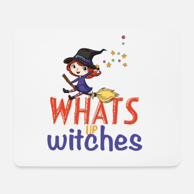 Homedecor Whats Up WITCHES - Sweet little witch on the broom - Mouse Pad