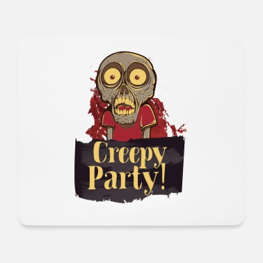 Homedecor CREEPY PARTY - comic skull scares to death - Mouse Pad