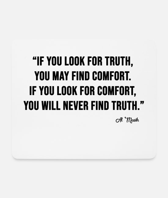Series Mouse Pads - LOOK FOR TRUTH - Mouse Pad white