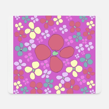 Chaos purple flower chaos - Mouse Pad